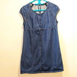 2/$20 Zara blue denim shift dress large